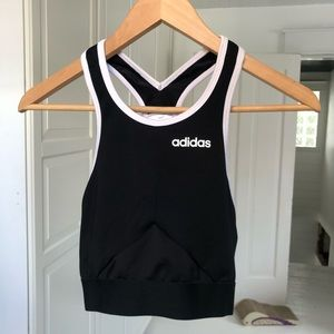 Adidas long lined bra/cropped top